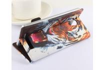 """Фирменный уникальный необычный чехол-подставка с визитницей кармашком на Jiayu S3 5.5"""" """"тематика Тигр"""""""