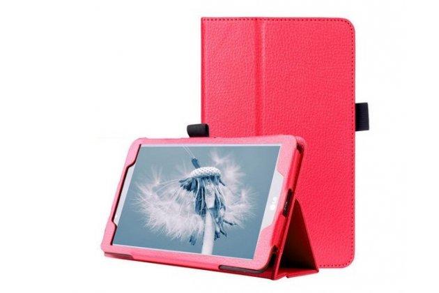 Фирменный оригинальный чехол обложка с подставкой для LG G Pad 2 8.0 (V498) красный кожаный