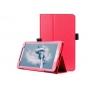 Фирменный оригинальный чехол обложка с подставкой для LG G Pad 2 8.0 (V498) красный кожаный..