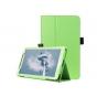 Фирменный оригинальный чехол обложка с подставкой для LG G Pad 2 8.0 (V498) зелёный кожаный..