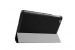 """Фирменный умный чехол-книжка самый тонкий в мире для LG G Pad 2 10.1 (V940/ V935) """"Il Sottile"""" черный кожаный"""