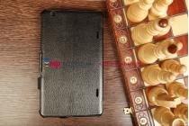 """Фирменный чехол для LG G Pad 8.3 с мульти-подставкой и держателем для руки черный натуральная кожа """"Deluxe"""" Италия"""