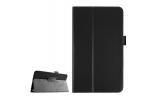 Фирменный оригинальный чехол обложка с подставкой для LG G Pad F 8.0 (V495) чёрный кожаный
