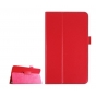 Фирменный оригинальный чехол обложка с подставкой для LG G Pad F 8.0 (V495) красный кожаный..