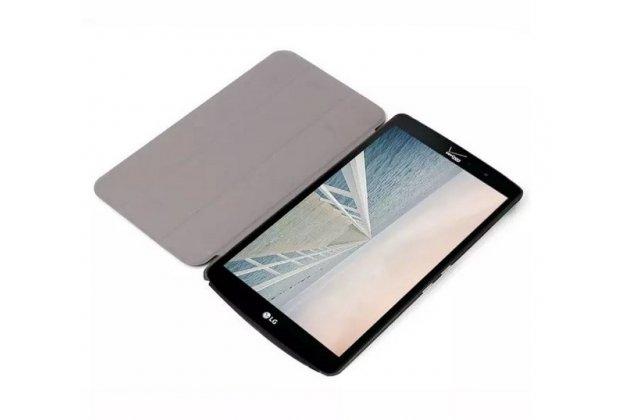 """Фирменный умный чехол-книжка самый тонкий в мире для LG G Pad F 8.0 (V495) """"Il Sottile"""" оранжевый кожаный"""