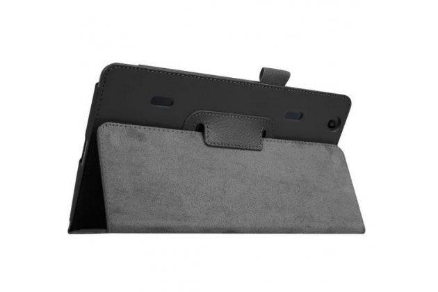 Фирменный оригинальный чехол обложка с подставкой для LG G Pad X 8.3 (VK815) чёрный кожаный