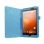 Фирменный оригинальный чехол обложка с подставкой для LG G Pad X 8.3 (VK815) голубой кожаный..