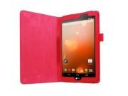 Фирменный оригинальный чехол обложка с подставкой для LG G Pad X 8.3 (VK815) красный кожаный..