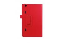 Фирменный оригинальный чехол обложка с подставкой для LG G Pad X 8.3 (VK815) красный кожаный