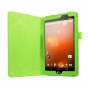 Фирменный оригинальный чехол обложка с подставкой для LG G Pad X 8.3 (VK815) зелёный кожаный..
