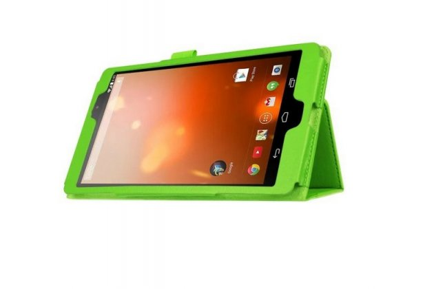 Фирменный оригинальный чехол обложка с подставкой для LG G Pad X 8.3 (VK815) зелёный кожаный