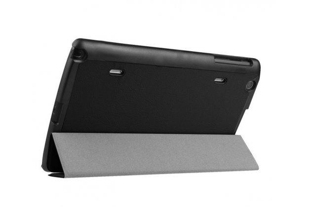 """Фирменный умный чехол-книжка самый тонкий в мире для LG G Pad X 8.3 (VK815) """"Il Sottile"""" черный кожаный"""