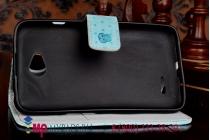 """Фирменный уникальный необычный чехол-книжка для LG L70 D325 """"тематика Сова"""""""