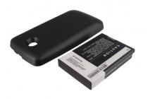 Усиленная батарея-аккумулятор большой ёмкости 2800 mAh для телефона LG Optimus S LS670+ задняя крышка черная + гарантия