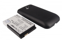 Усиленная батарея-аккумулятор большой повышенной ёмкости 2800 mAh для телефона LG Optimus S LS670+ задняя крышка черная + гарантия