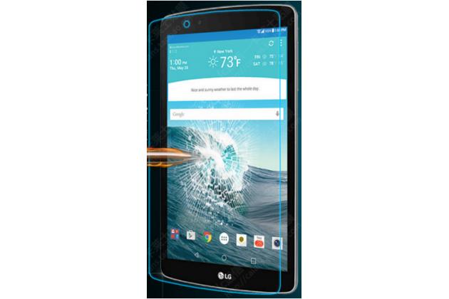 Фирменное защитное закалённое противоударное стекло премиум-класса из качественного японского материала с олеофобным покрытием для планшета LG G Pad 2 8.0 / LG G Pad F 8.0 V495 /V498