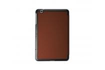 """Фирменный умный чехол-книжка самый тонкий в мире для LG G Pad 2 10.1 (V940/ V935) """"Il Sottile"""" коричневый кожаный"""