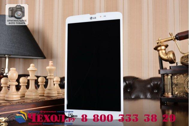 Фирменный LCD-ЖК-сенсорный дисплей-экран-стекло с тачскрином на планшет LG G Pad 8.3 V500  белый и инструменты для вскрытия + гарантия