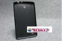 Фирменная ультра-тонкая полимерная из мягкого качественного силикона задняя панель-чехол-накладка для LG G Pad 7.0 V400 (LGV400.ACISWH.)  черная
