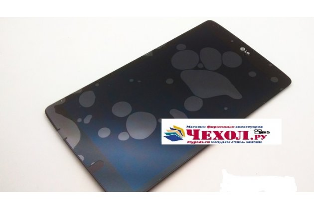 Фирменный LCD-ЖК-сенсорный дисплей-экран-стекло с тачскрином на планшет LG G Pad 7.0 V400 (LGV400.ACISWH.)  черный и инструменты для вскрытия + гарантия