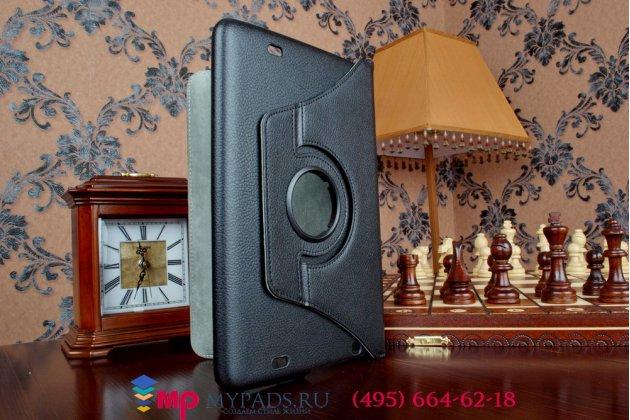Чехол для LG G Pad 10.1 V700 (LGV700.ACISBK) поворотный роторный оборотный черный кожаный