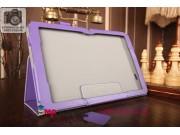 Фирменный чехол бизнес класса для LG G Pad 10.1 V700 с визитницей и держателем для руки фиолетовый натуральная..