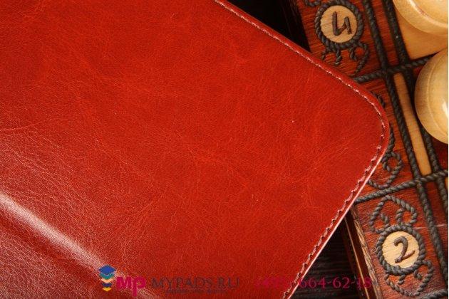 Фирменный чехол-сумка для LG G Pad 10.1 коричневый кожаный