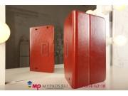 Фирменный чехол-сумка для LG G Pad 10.1 коричневый кожаный..