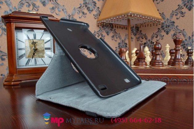 Фирменный чехол для LG G Pad 8.0 V480/V490 поворотный роторный оборотный черный кожаный