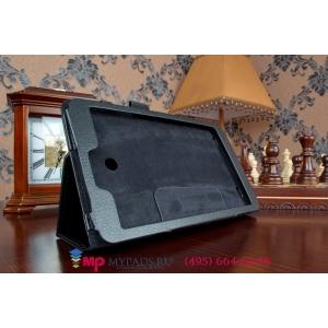Фирменный чехол обложка для LG G Pad 8.0 V480/490 черный кожаный