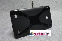 Фирменная ультра-тонкая полимерная из мягкого качественного силикона задняя панель-чехол-накладка для LG G Pad 8.0 V480/V490  черная