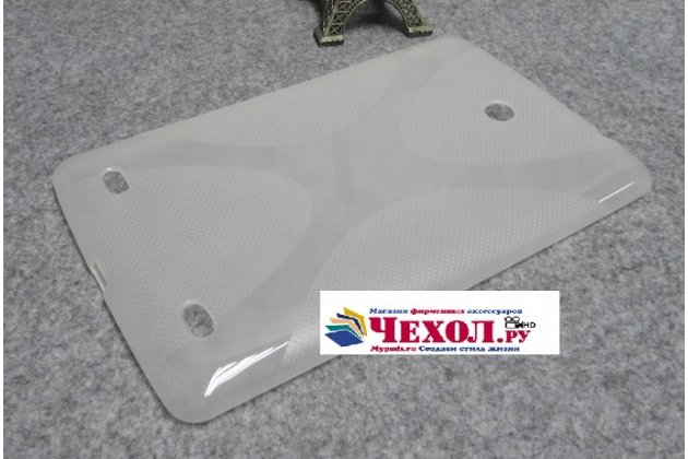 Фирменная ультра-тонкая полимерная из мягкого качественного силикона задняя панель-чехол-накладка для LG G Pad 8.0 V480/V490  белая