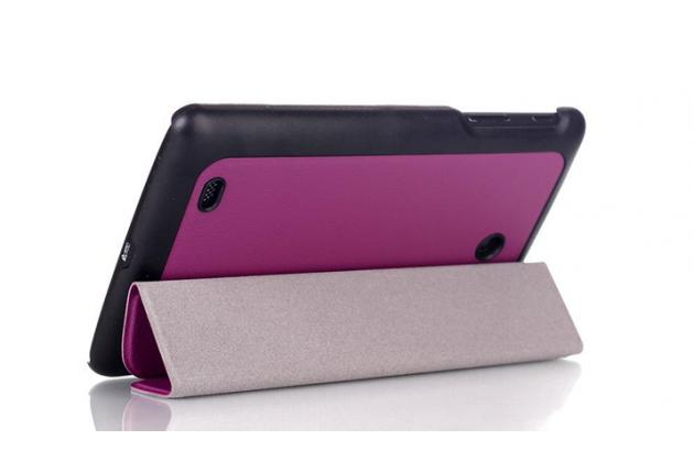 """Фирменный умный тонкий чехол для LG G Pad 8.0 V480/V490   """"Il Sottile"""" фиолетовый пластиковый"""