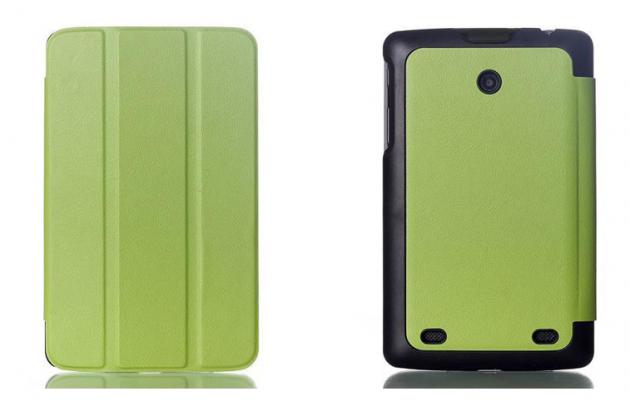 """Фирменный умный тонкий чехол для LG G Pad 8.0 V480/V490   """"Il Sottile"""" зеленый пластиковый"""