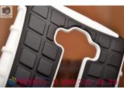 Противоударный усиленный ударопрочный фирменный чехол-бампер-пенал для LG G Flex 2 белый..