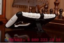 Противоударный усиленный ударопрочный фирменный чехол-бампер-пенал для LG G Flex 2 белый