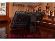 Противоударный усиленный ударопрочный фирменный чехол-бампер-пенал для LG G Flex 2 черный..