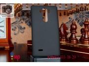 Фирменная задняя панель-крышка-накладка из тончайшего и прочного пластика для LG G Flex 2 (H959) черная..