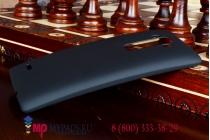 Фирменная задняя панель-крышка-накладка из тончайшего и прочного пластика для LG G Flex 2 (H959) черная