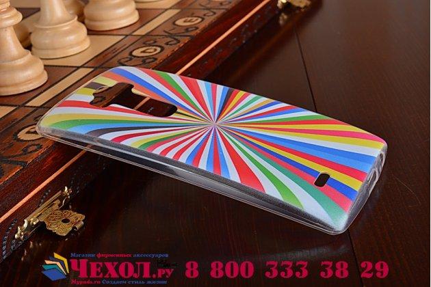 """Фирменная ультра-тонкая полимерная из мягкого качественного силикона задняя панель-чехол-накладка для LG G Flex 2 (H959)  тематика """"все цвета радуги"""""""