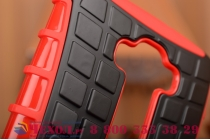Противоударный усиленный ударопрочный фирменный чехол-бампер-пенал для LG G Flex 2 (H959) красный