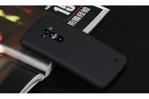 Фирменная задняя панель-крышка-накладка из тончайшего и прочного пластика для LG G Flex 1 D958 черная