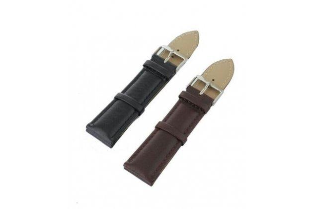 Фирменный сменный кожаный ремешок для умных смарт-часов LG G Watch W100 из качественной импортной кожи + инструменты для вскрытия