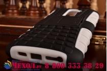Противоударный усиленный ударопрочный фирменный чехол-бампер-пенал для LG G2 (D802) белый