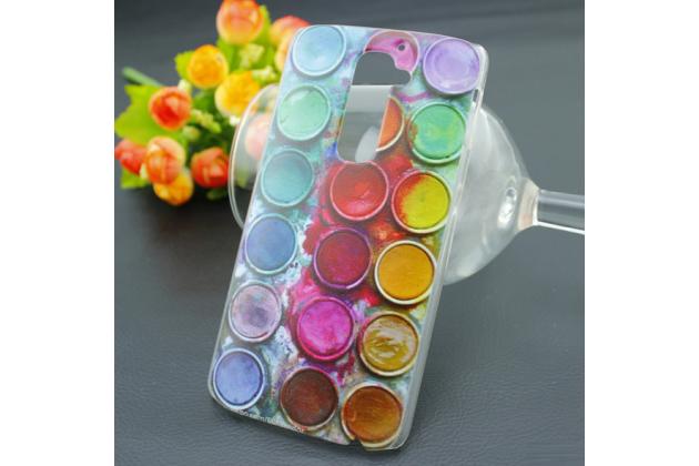 """Фирменная необычная из легчайшего и тончайшего пластика задняя панель-чехол-накладка для LG G2 (D802) """"тематика Краски"""""""