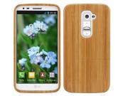 Фирменная оригинальная деревянная из натурального бамбука задняя панель-крышка-накладка для LG G2 (D802)..