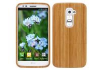 Фирменная оригинальная деревянная из натурального бамбука задняя панель-крышка-накладка для LG G2 (D802)