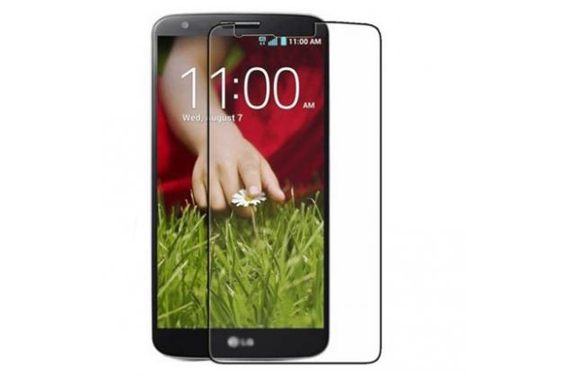 Фирменная оригинальная защитная пленка для телефона LG G2 (D802) глянцевая