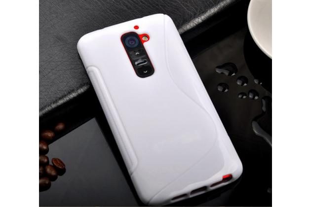 Фирменная ультра-тонкая полимерная из мягкого качественного силикона задняя панель-чехол-накладка для LG G2 (D802) белая