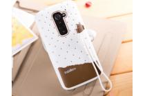 """Фирменная необычная уникальная полимерная мягкая задняя панель-чехол-накладка для LG G2 (D802) """"тематика Андроид в Белом Шоколаде"""""""